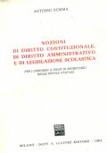 Nozioni di diritto costituzionale, di diritto amministrativo e di  legislazione scolastica