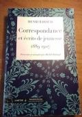 Correspondance et écrits de jeunesse (1889-1907)