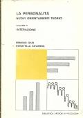 LA PERSONALITA'. Nuovi orientamenti teorici.     Volume 2°: Percezione. [ Prima edizione. Padova, Libreria Editrice Universitaria Pàtron. Settembre 1978 ].