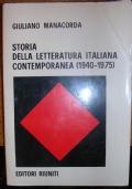 STORIA DELLA LETTERATURA ITALIANA CONTEMPORANEA (1940 - 1975)