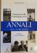Annali dell'istruzione, educazione alla convivenza civile vol. 4