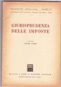 Giurisprudenza delle imposte. Pubblicazione trimestrale Anno XLIII n.4 Ottobre- Dicembre 1970