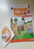 SUMMER MAGIC 4 in Cowboy Land con Short Story + audio CD with songs. Per la scuola elementare. Libretto per il ripasso della lingua inglese.