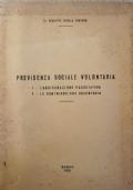 Previdenza sociale volontaria (assicurazione facoltativa, contribuzione volontaria)