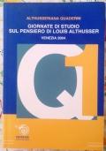 Giornate di studio sul pensiero di Louis Althusser Venezia, 11 e 12 febbraio 2004 : atti del convegno ( di Maria Turchetto Politica Filosofia Comunismo Marxismo )