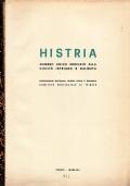HISTRIA Numero unico dedicato alla civiltà istriana e dalmata