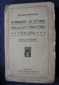 SOMMARIO DI STORIA DELLA LETTERATURA ITALIANA