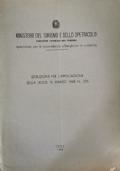 Ministero del turismo: istruzioni per l'applicazione della legge 12 marzo 1968
