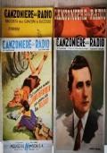Il Canzoniere della Radio - 4 fascicoli del 1940-41