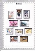 Francobolli di tutto il mondo 3. Zaire - solo scheda con francobolli (1 francobollo mancante), no fascicolo