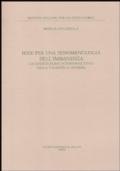 Idee per una fenomenologia dell'immanenza. La costituzione intersoggettiva della validità di Husserl