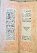 L�anima dell�uomo sotto il socialismo - Sebastiano Melmoth (Aforismi). O. Wilde, Luciano Carabba 1912. Prima edizione