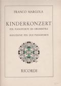 Kinderkonzert per pianoforte ed orchestra . Riduzione per due pianoforti