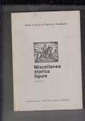 studi in onore di francesco cataluccio-miscellanea storica ligure-volume 1-
