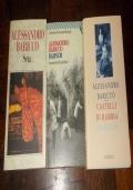LOTTO 3 LIBRI ALESSANDRO BARICCO BROSSURATI: BARNUM, CASTELLI DI RABBIA, SETA
