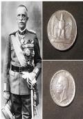 Italia L. 5, 1929, Re Vittorio Emanuele III°.