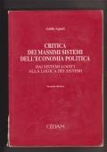 Critica dei massimi sistemi dell' economia politica. Dai sistemi logici alla logica dei sistemi