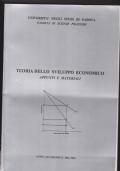 Teoria dello sviluppo economico. Appunti e materiali. Anno Accademico 2002-2003