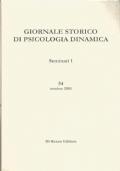 Giornale storico di psicologia dinamica. Volune 29, Fascicolo 54, Ottobre 2003