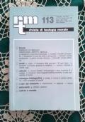 Rivista di Teologia Morale N. 131 LUGLIO-SETTEMBRE  - 2001