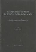 Giornale storico di psicologia dinamica. Volune 28, Fascicolo 53, Aprile 2003