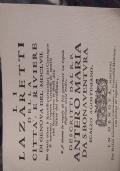 I lazzaretti della città e riviere di Genova 1657