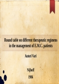 Round table on different therapeutic regimens in the management of E.M.C. patients