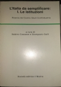 L�Italia da semplificare: I. Le istituzioni. Ricerca del Centro Studi Confindustria