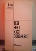 Tesi per il XXXI Congresso