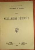 SOUVENIRS DE JEUNESSE PAR UN GENTILHOMME PIEMONTAIS