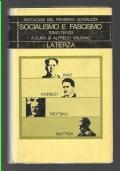 SOCIALISMO E FASCISMO Antologia del pensiero socialista volume V: tomo terzo