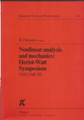 Nonlinear analysis and mechanics : Heriot-Watt symposium. Volume 3