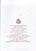 La Madonna del Sabato Santo - Lettera pastorale 2000-2001