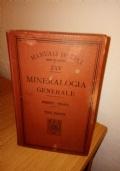 1906 manuale Hoepli MINERALOGIA GENERALE, terza edizione