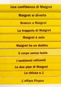 L�AFFARE PICPUS. Ed altri 10 volumi. L�intera Collana il Maigret di Simenon. STOCK