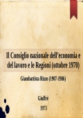 Il Consiglio nazionale dell'economia e del lavoro e la programmazione (6 aprile 1971)