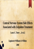 Central Nervous System Side Effects Associated with Zolpidem Treatment