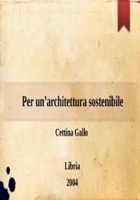 Per un'architettura sostenibile