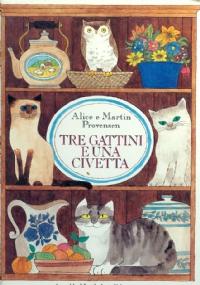 Tre gattini e una civetta