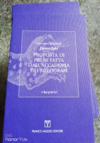 Proposta di premi fatta dall'Accademia dei Sillografi