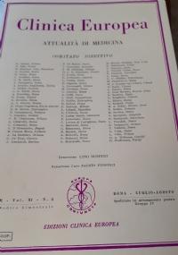 Clinica Europea Attualità Di Medicina - Settembre/Ottobre 1972