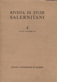 RIVISTA STUDI SALERNITANI 6 - LUGLIO-DICEMBRE 1970