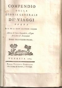 COMPENDIO DELLA STORIA GENERALE DE' VIAGGI TOMO TRENTESIMOPRIMO QUARTA PARTE LIBRO QUINTO ( GROENLANDIA )