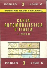 CARTA AUTOMOBILISTICA D' ITALIA FOGLIO 8 E 11