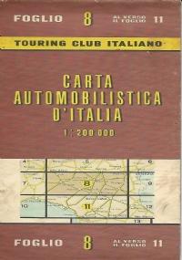 CARTA AUTOMOBILISTICA D' ITALIA FOGLIO 9, 12, 14