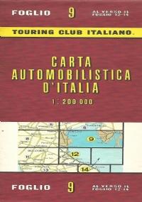 CARTA AUTOMOBILISTICA D' ITALIA FOGLIO 13 E 15