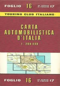 CARTA AUTOMOBILISTICA D' ITALIA FOGLIO 18 E 19