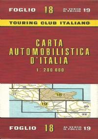 CARTA AUTOMOBILISTICA D' ITALIA FOGLIO 20 E 21