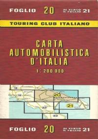 CARTA AUTOMOBILISTICA D' ITALIA FOGLIO 22, 23, 24