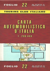 CARTA AUTOMOBILISTICA D' ITALIA FOGLIO 25, 26, 27